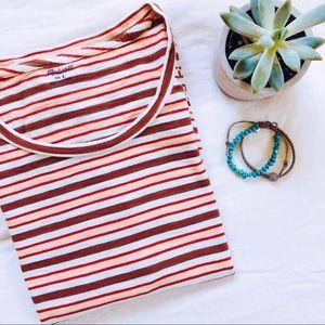 Madewell Knit Striped Short Sleeve Shirt